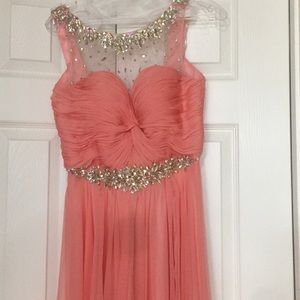 Evening Long beaded size 6 dress only wore once